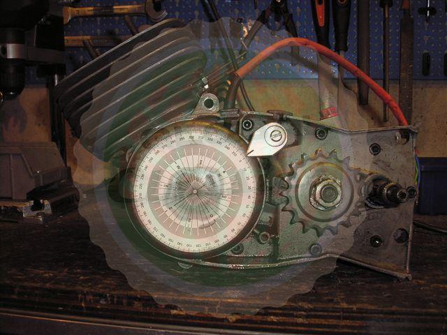 gradenboog op de ontsteking van Bosch op de Zundapp
